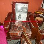 毛沢東の使用していたと言われる椅子
