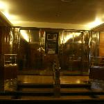 Original brass elevator doors