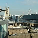 Top floor view, Victoria tower and the Eye in the backround