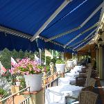 The main dining terrace at the hotel