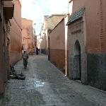 alley (from parking street ) leading to riad