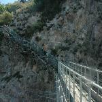 escadaria da torre para praia do hotel