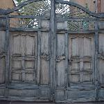 Wooden Gate to Court Yard