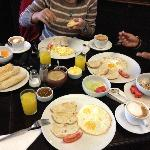 Half of our Free Breakfast