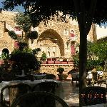 The courtyard restaurant.