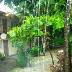 lluvia desde el hotel