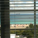 awesome view from room, is the beach busy?