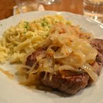 Roast Beef with FANTASTIC oninions and Spaetzle