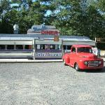 '48 Ford Pro-Street F-1 at the Delta Diner