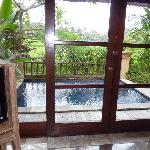 view from our room, villa pool