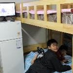 The kids loved the double-deck beds!