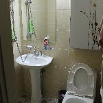 Sparkling Clean Toilet&Bath with HotShower