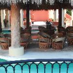 sitting area outside lobby bar