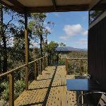 View from the deck (eco lodge #1)