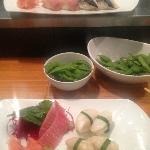 Toro and Abalone sashimi