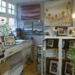 Studio/shop selling original art, silk bags, scarves and one off cards.