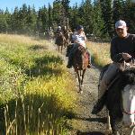 Horseback riding, on our way back