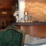very pretty and inviting reception area