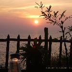 sunset vom Tisch aus :-)