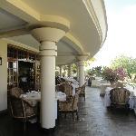 la zona esterna del ristorante
