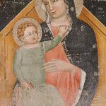 Fresco of Virgin & child in San Zeno, Verona