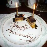 Two small Anniversary cakes