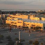 mall. movie theater across the street