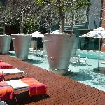 outside area by the pool / bar /sun bathing area