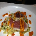 the OVER salted tuna which looked great but tasted AWFUL and horrible couscous