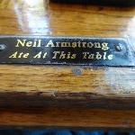 We got to sit at the Neil Armstrong table!