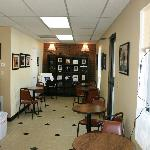 The gallery/seating area