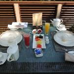 Breakfast on our terrace