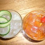 A gimlet and an old fashioned