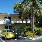Motel style across from the pier and the beach