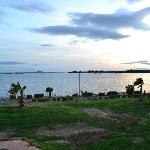 Vue de l'étang de Thau depuis le balcon de la chambre