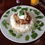 Mediterranean Chicken over Basmati Rice