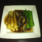 Stir Fried Asparagus, Baby Corn and Shiitake Mushrooms