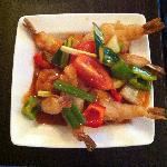 Deep Fried Tiger Prawns in a Sweet and Sour Sauce