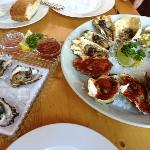 Great selection of fresh prepared oysters