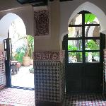 Door to inner garden, next to reception