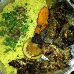 Combination dish at King O Falafel. YUMMY!
