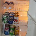 Bar fridge fully stocked