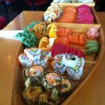 One of their sushi boats that we get. They also did holiday platters for me last Christmas.