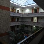 The interior courtyard