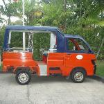 Free Tuk Tuk that goes up and down the hill