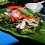 Basil leave salad