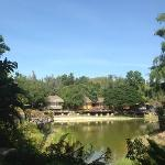 all the rooms are set around a spectacular lake