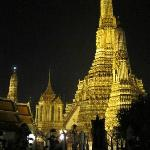 Temple at night in Bangkok