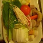 Shabu-shabu vegetable accompaniment