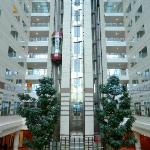 Hilton Paris Charles de Gaulle Airport  Roissy elevators lobby atrium